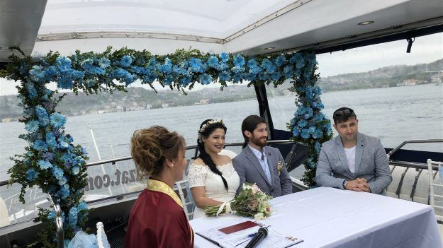 Engagement Ceremony on Boat